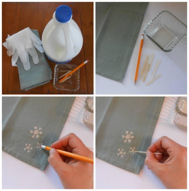 DIY bleach art coll