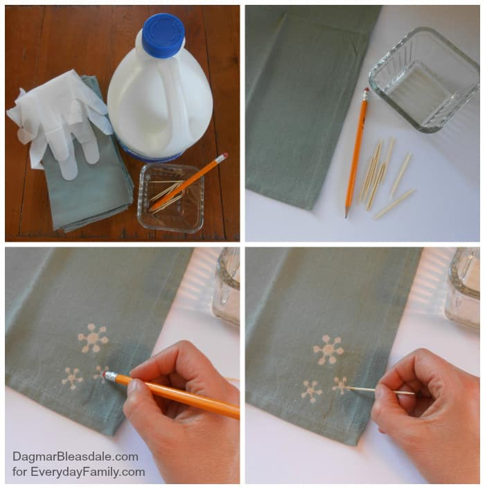 DIY Project: Bleach Art Fabric Napkins