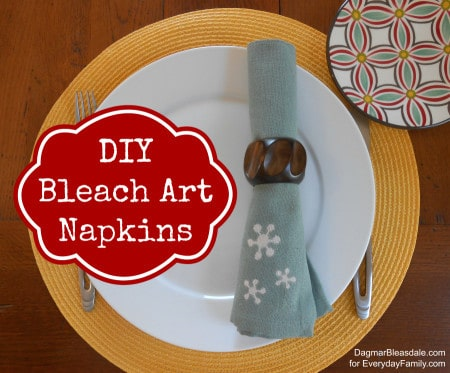 Dagmar's Home: DIY bleach art napkins