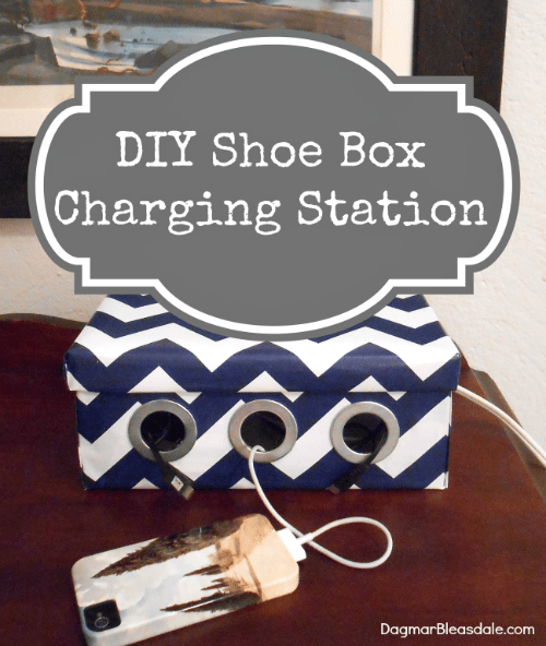 DIY shoe box charging station, DagmarBleasdale.com