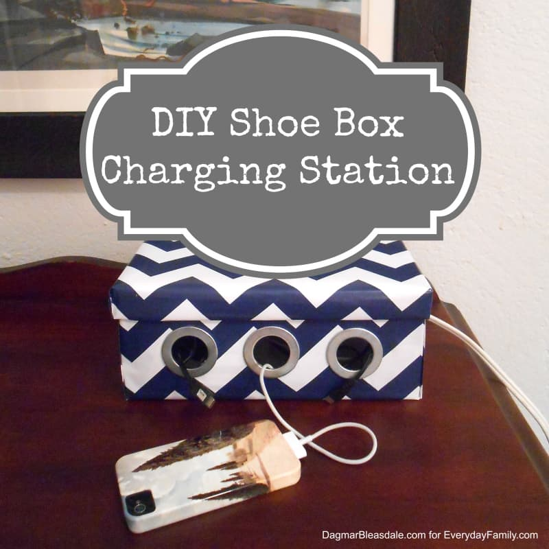 DIY Shoe Box Charging Station