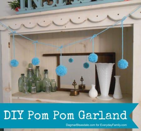 Dagmar's Home: diy pom pom garland