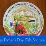 Last-Minute Father's Day Gift: DIY Sharpie Art on a Plate