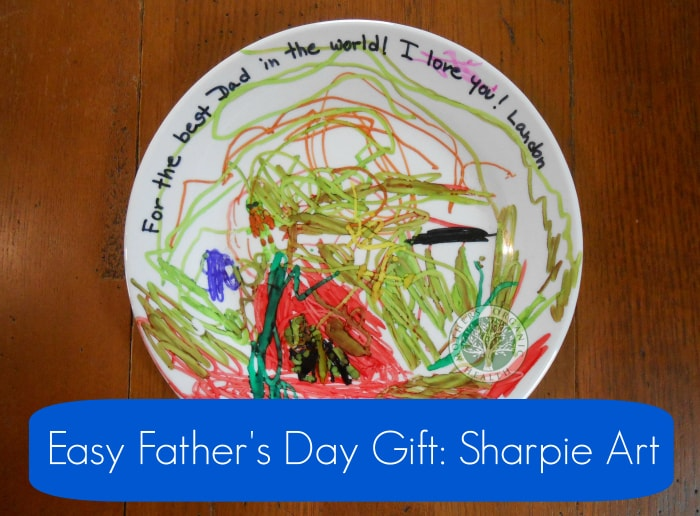 Last-Minute Father's Day Gift, DIY Sharpie art, DagmarBleasdale.com