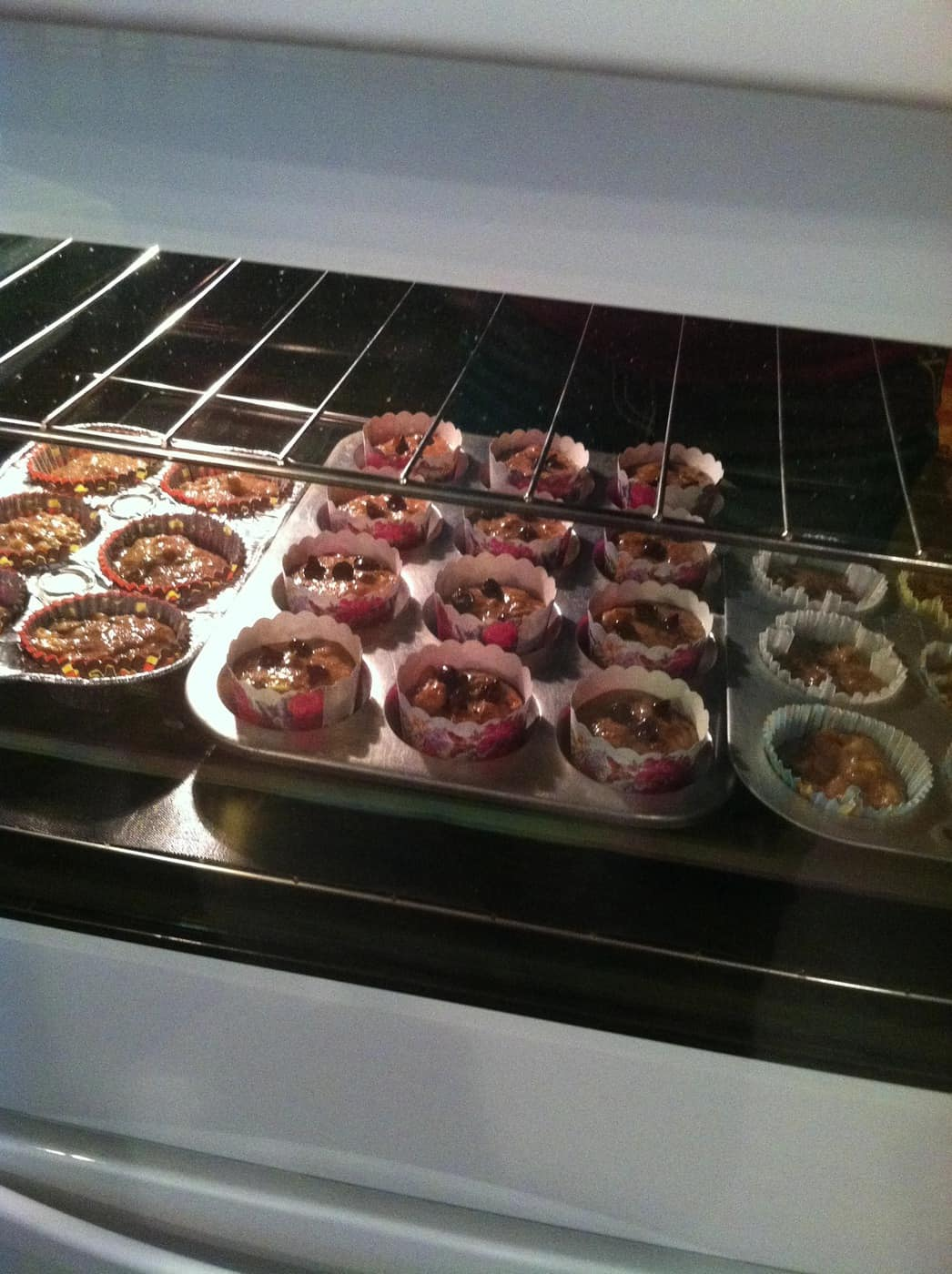 Wordless Wednesday With Linky: Zucchini Banana Muffins