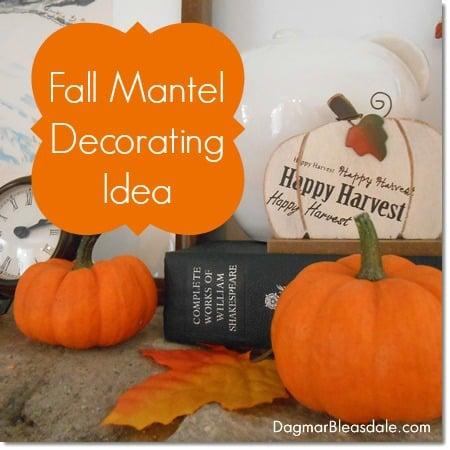 fall mantel decorating idea