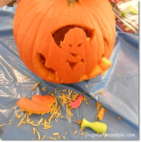 Pumkin Masters design on pumpkin