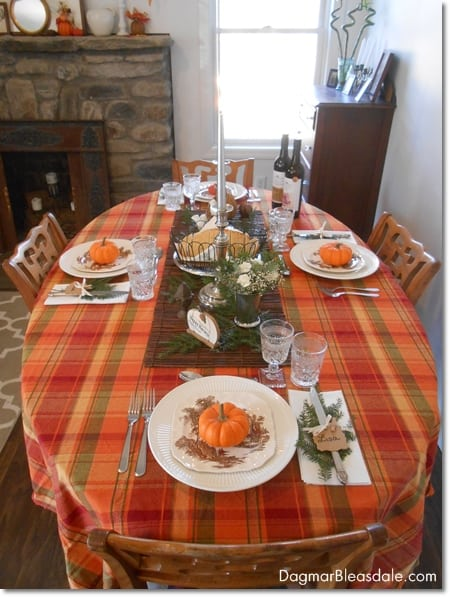 Easy Vintage Thanksgiving Table Setting With Transferware