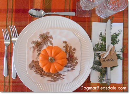 easy diy thanksgiving table setting idea - Thanksgiving Table Setting Ideas Easy
