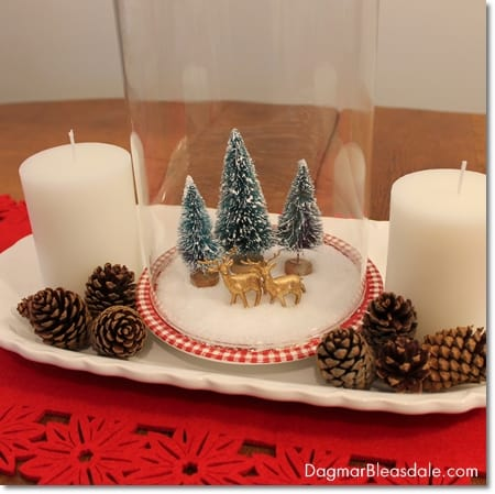 DIY Snow Globe With Bottle Brush Trees and Epsom Salt Dagmars Home