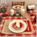 Easy Christmas Table Setting at the Blue Cottage