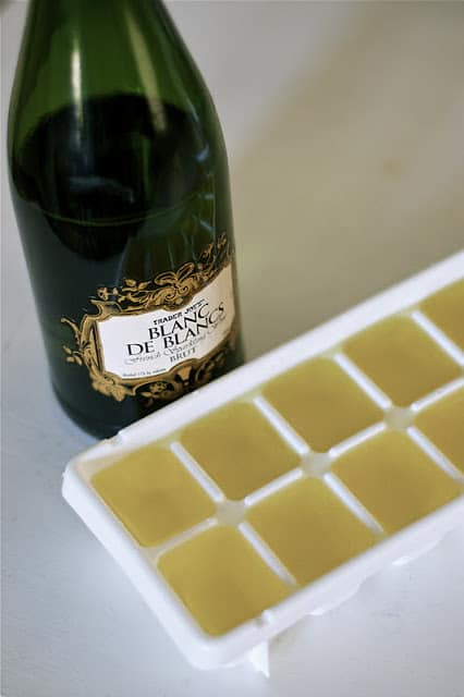 champagne ice cubes, DagmarBleasdale.com