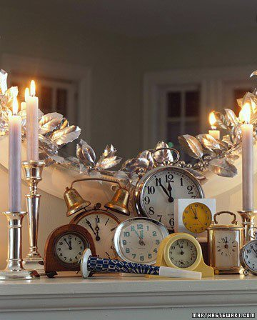 New Year's eve clock decor ideas