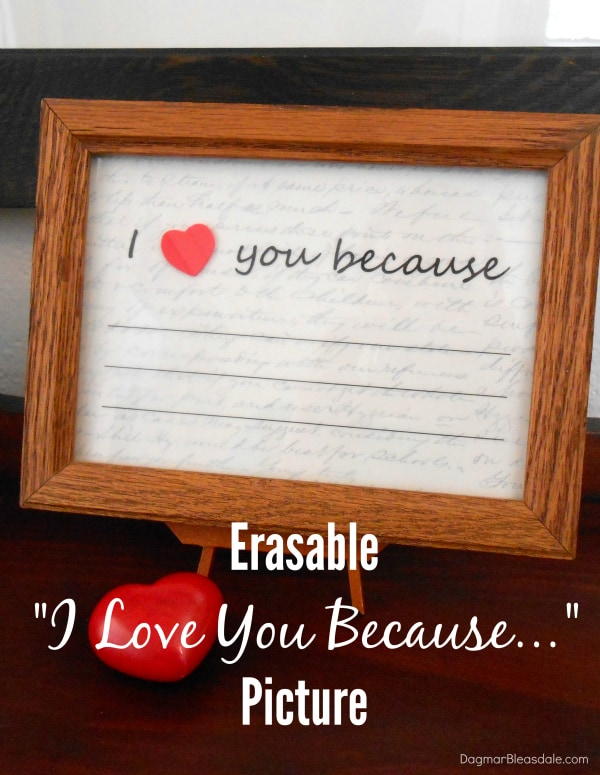 "Valentine's Day gift: ""I love you because"" picture, DagmarBleasdale.com"