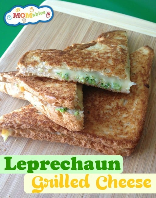 St. Patrick's Day Leprechaun school lunch: grilled cheese