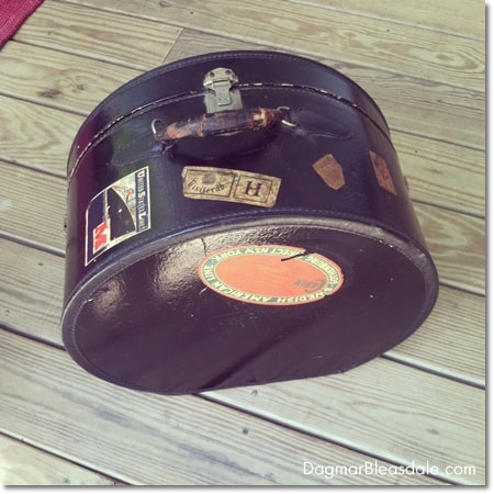 vintage leather hat box