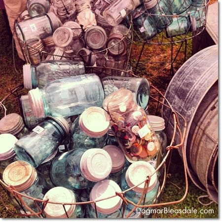 vintage mason jars, Country Living Fair in Rhinebeck, DagmarBleasdale.com