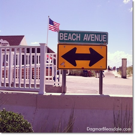 Cape May, Beach Avenue sign