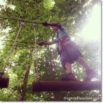 Zip Lining at the Adventure Park in Connecticut