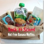 Back to School Nut-Free Banana Muffins