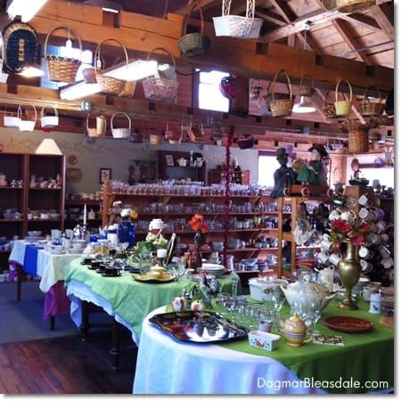 thrift store in Woodstock, VT