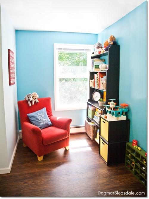 turquoise room, boy's room, turquoise kids room, DagmarBleasdale.com