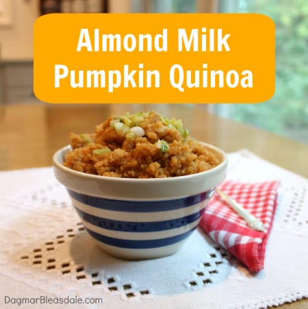 pumpkin quinoa recipe with Silk almond milk