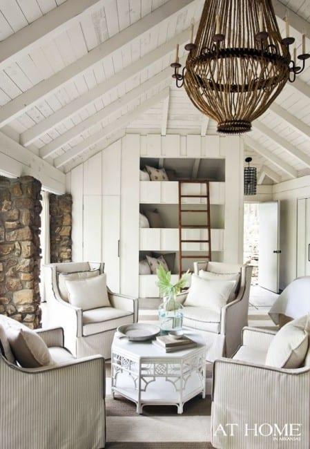 country cottage decor attic