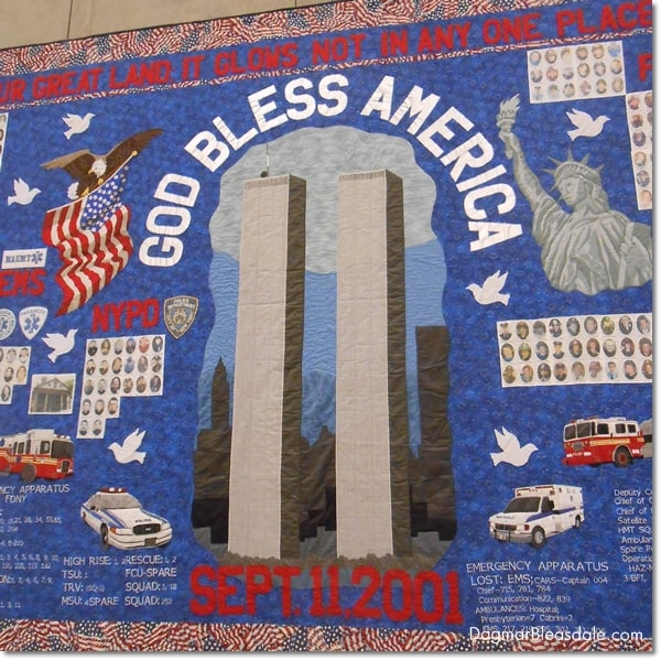 quilt, 9/11 Museum, Manhattan, New York