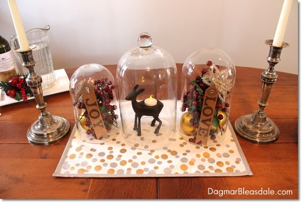 DIY Cloche centerpiece