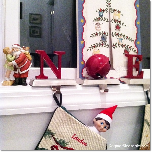 Wordless Wednesday With Linky: Fred, Our Elf on the Shelf