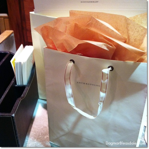 Anthropologie gift bag