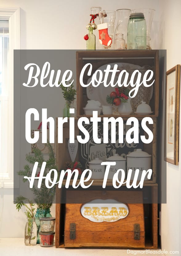 Blue Cottage Christmas home tour, DagmarBleasdale.com