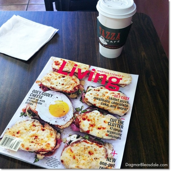 Martha Stewart Living magzine and Starbucks coffee