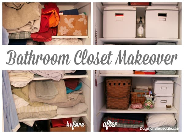 Closet Makeover, bathroom, Dagmar's Home, DagmarBleasdale.com