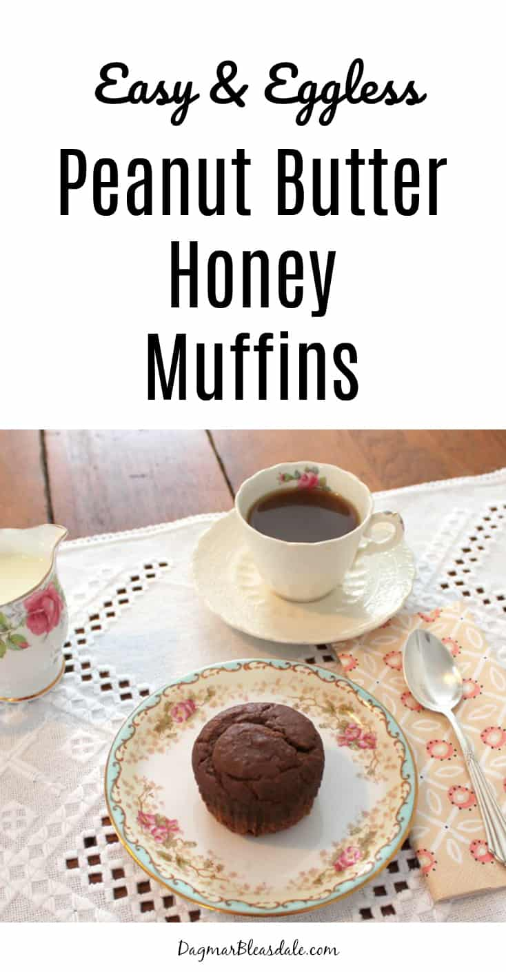 Peanut Butter Honey Muffins, eggless, easy recipe, DagmarBleasdale.com