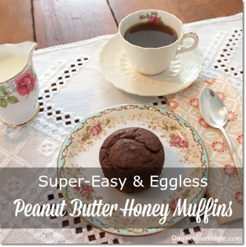 Peanut butter honey muffin, eggless recipe, DagmarBleasdale.com
