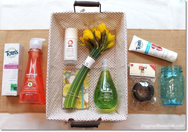 """Green Your Home"" gift basket. DagmarBleasdale.com"
