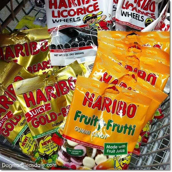 bags of Haribo candy
