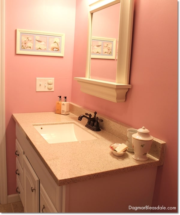 pink cottage bathroom