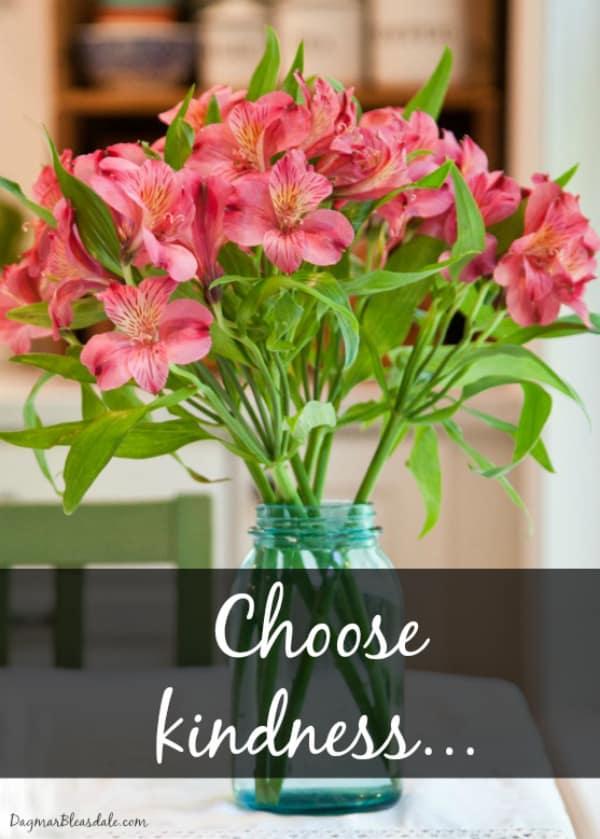 choose kindness... DagmarBleasdale.com, kindness quote