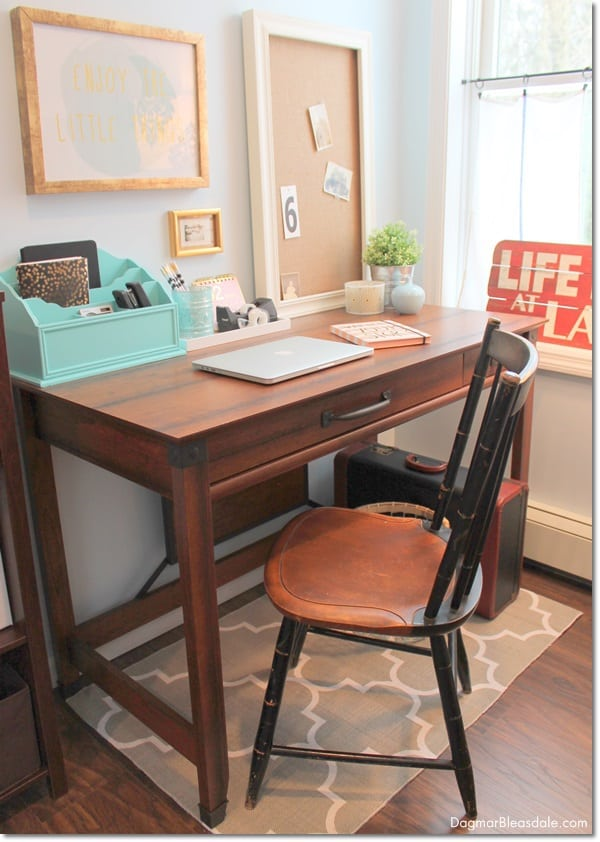 home office in bedroom