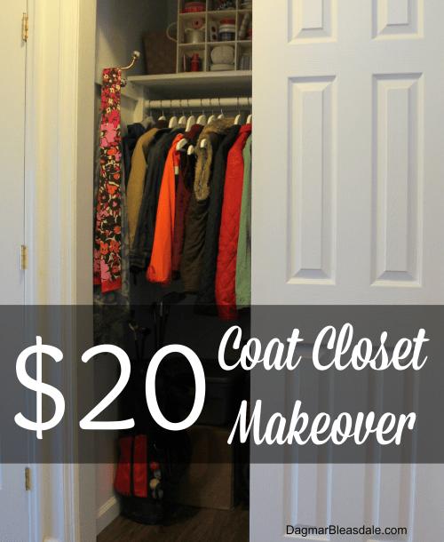 Easy $20 Coat Closet Makeover