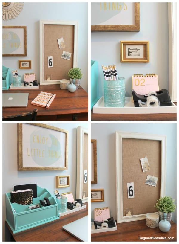 decorating a bedroom office nook. DagmarBleasdale.com