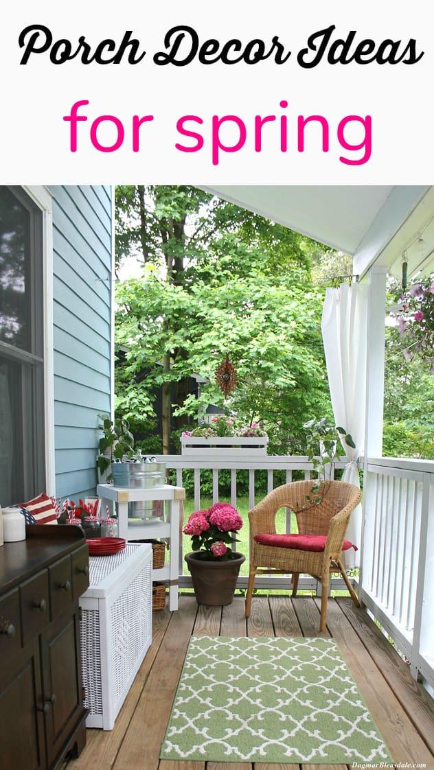 Spring porch decorating ideas, DagmarBleasdale.com