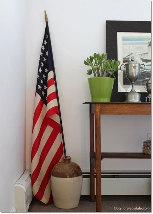 1940s American Flag with 48 Stars, silk