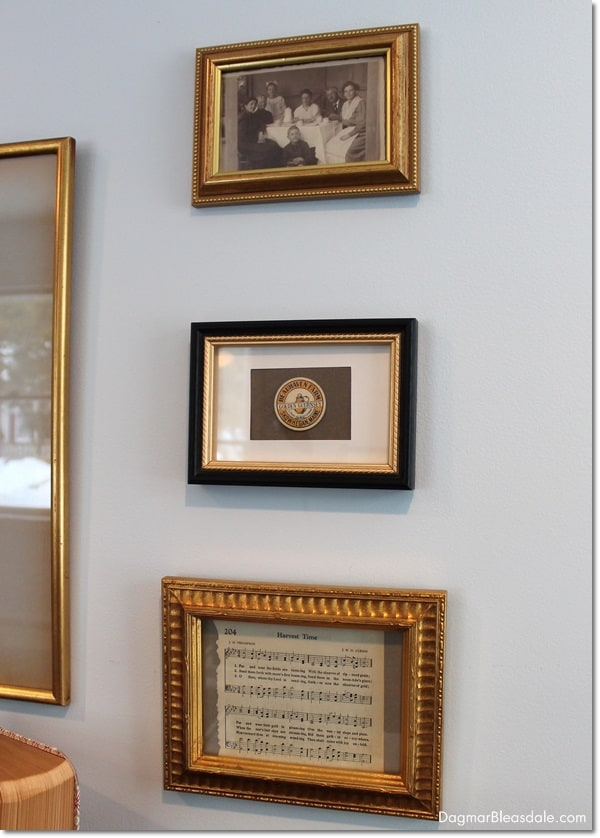 Gallery Wall With Framed Vintage Ephemera, DagmarBleasdale.com