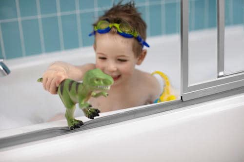 Bath Time Becomes Easier With Sterling Shower Doors with ComforTrack
