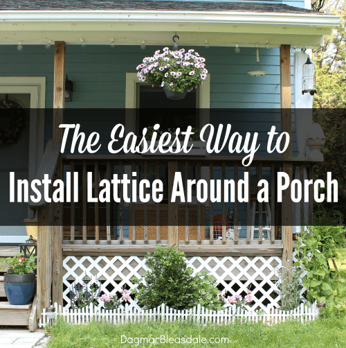 The easiest way to install lattice around a porch - Things consider installing balcony home ...