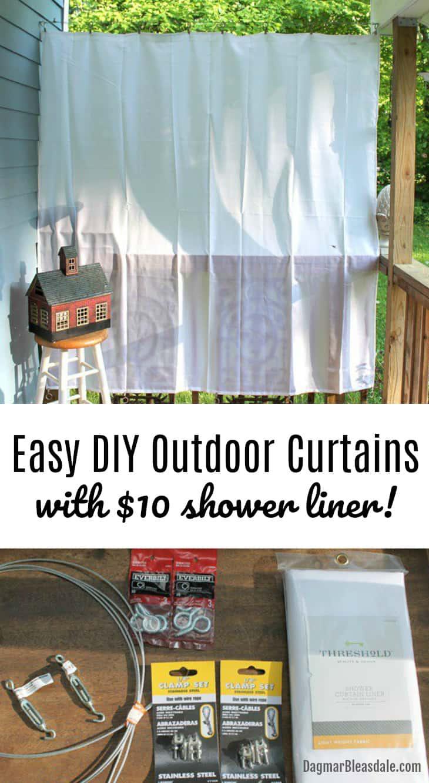 outdoor curtains, DIY porchcurtans, DagmarBleasdale.com